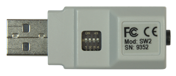 Swifty back showing mode switch and serial number.